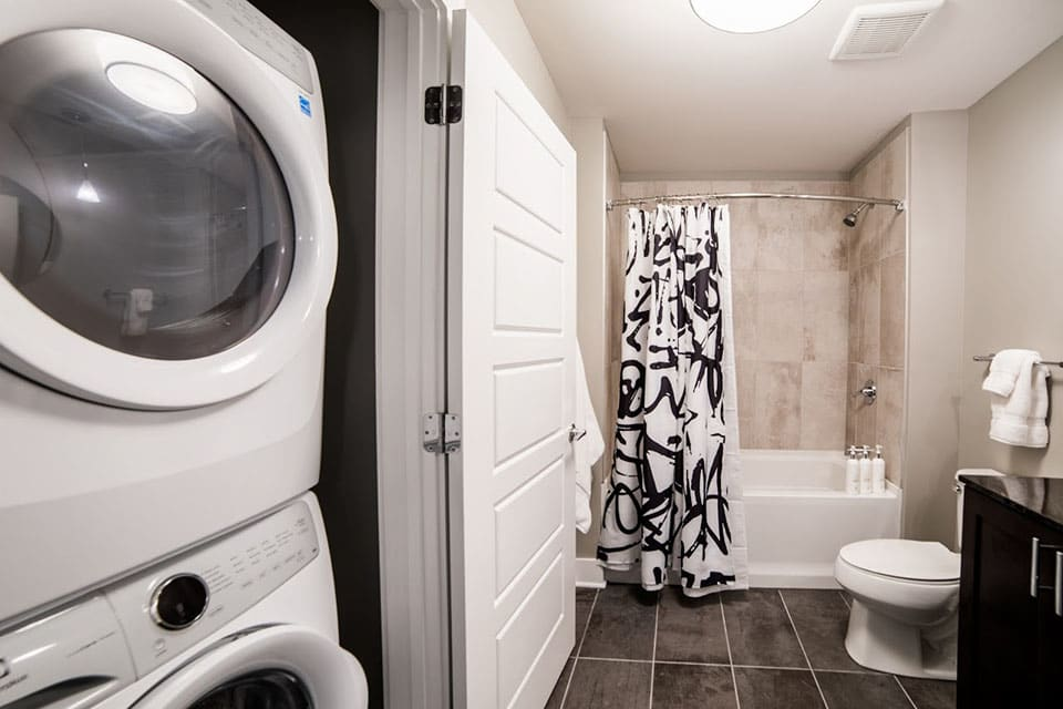 Stacked Washer And Dryer In Every Home at CityWay, Indianapolis, 46204