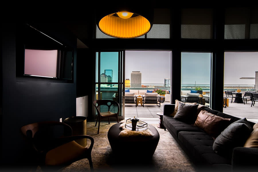 Quaint Sitting Area In Rooftop Clubroom at CityWay, Indianapolis, 46204