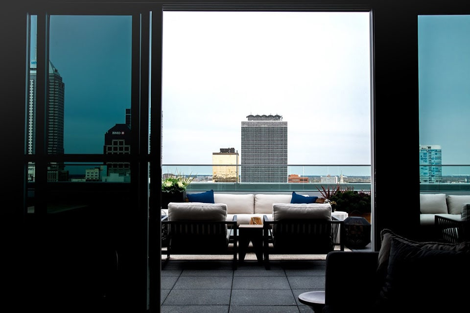 Lounge With A City Tower View at CityWay, Indianapolis, 46204