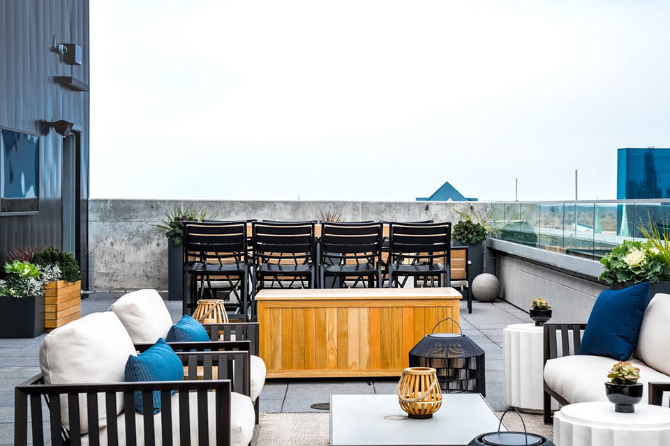 Enjoy Your Evenings At Rooftop Deck at CityWay, Indiana