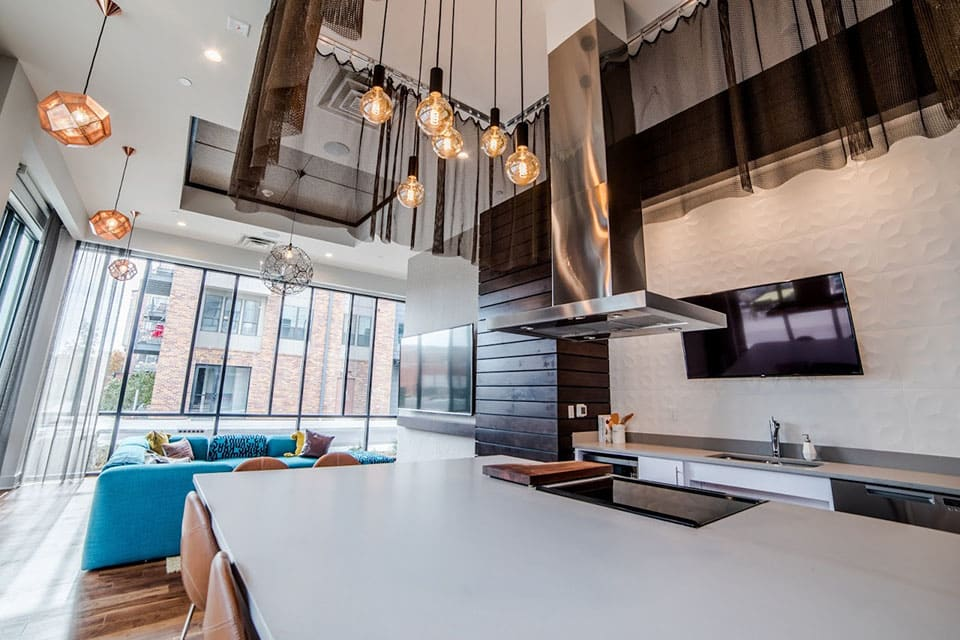Fitted Kitchen In Clubroom at CityWay, Indianapolis, IN