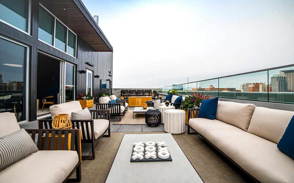 Rooftop Terrace And Gazebo at CityWay, Indianapolis