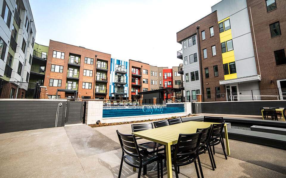 Outdoor Sitting Area at CityWay, Indianapolis, 46204