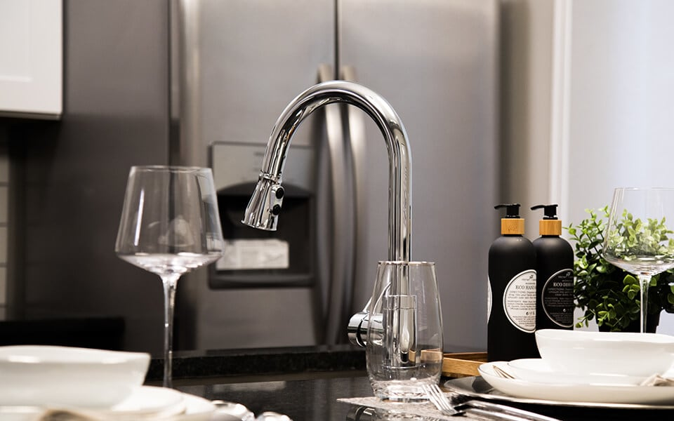 Sink with Integrated Sprayer at CityWay, Indianapolis, IN