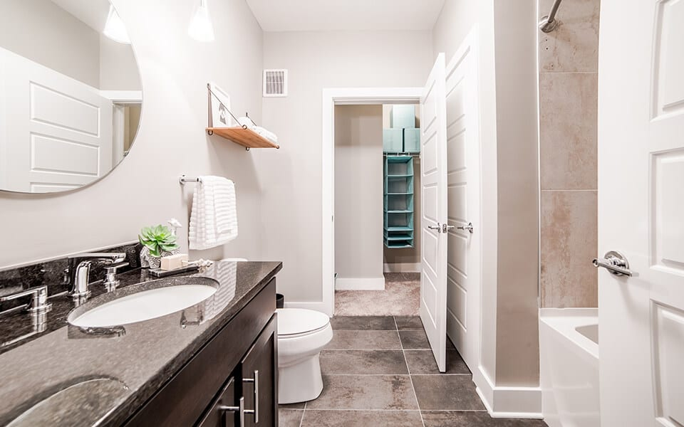 Spacious Bathrooms at CityWay, Indianapolis, IN 46204