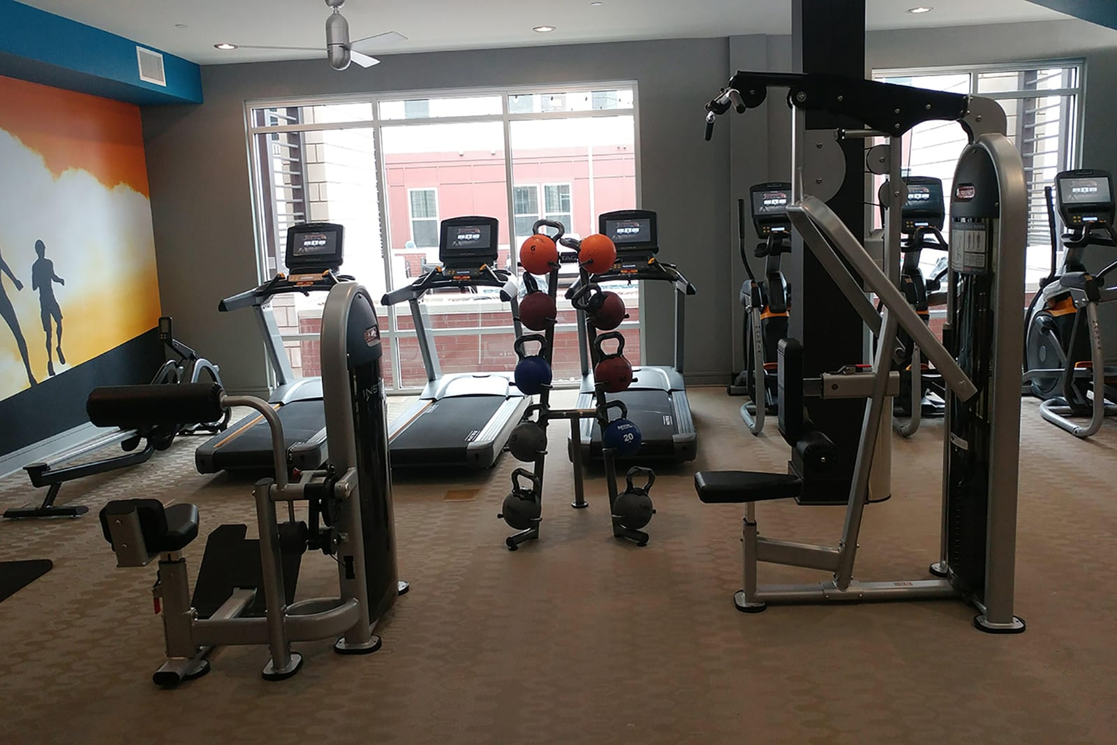 The Fitness Center Is Open 24/7 at Centric LoHi by Windsor, Denver, Colorado