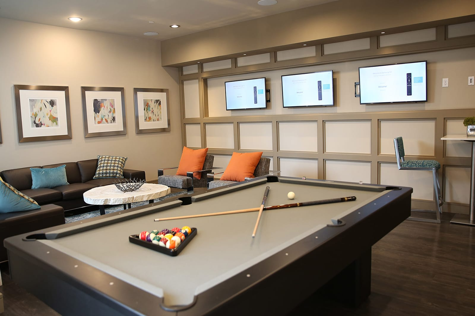 Game Room With Billiards And Video Games at Centric LoHi by Windsor, 2525 18th St, Denver
