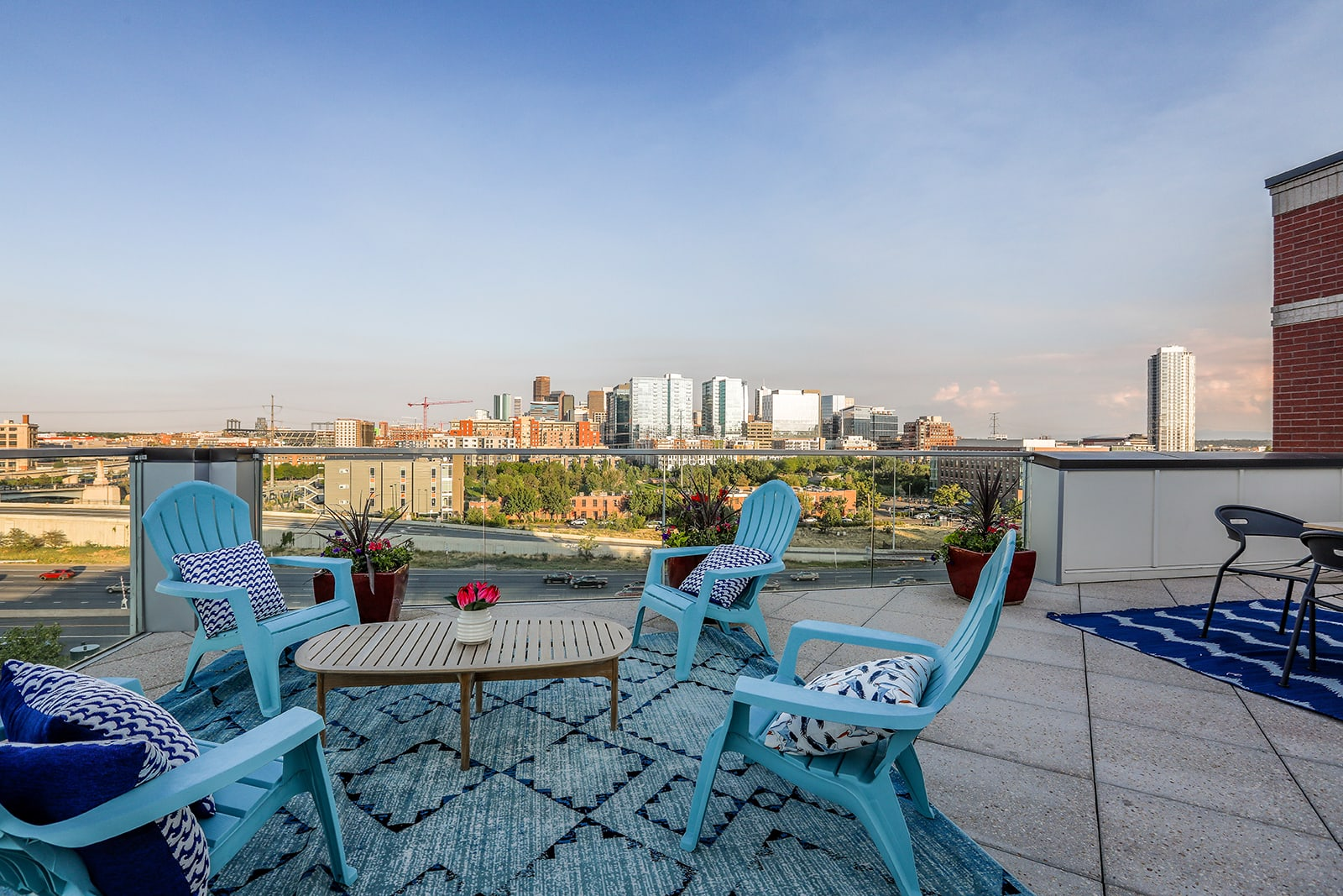 The Rooftop Deck With Views Of The Denver Skyline at Centric LoHi by Windsor, 2525 18th St, Denver