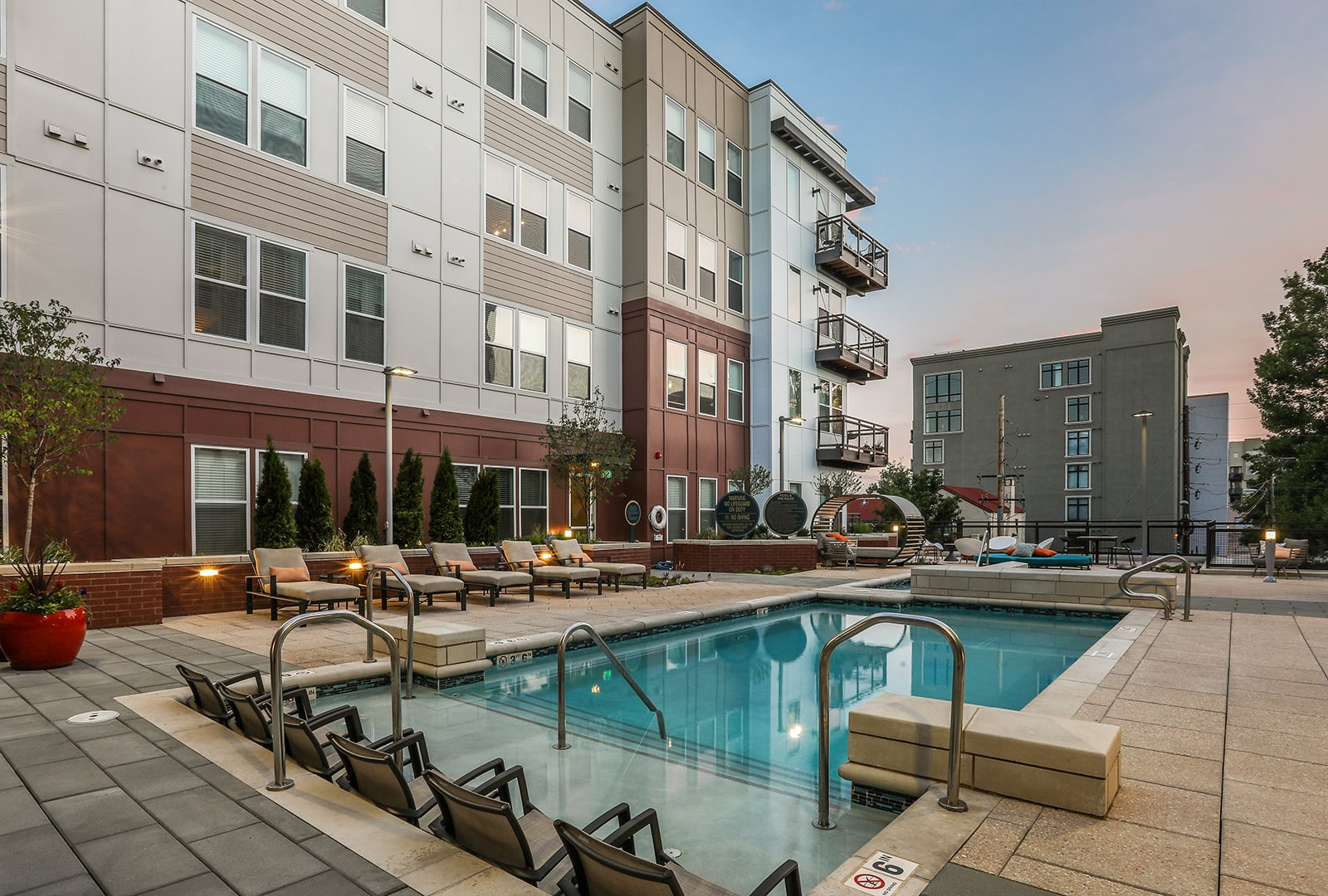 Swimming Pool With Relaxing Sundecks at Centric LoHi by Windsor, Colorado, 80211