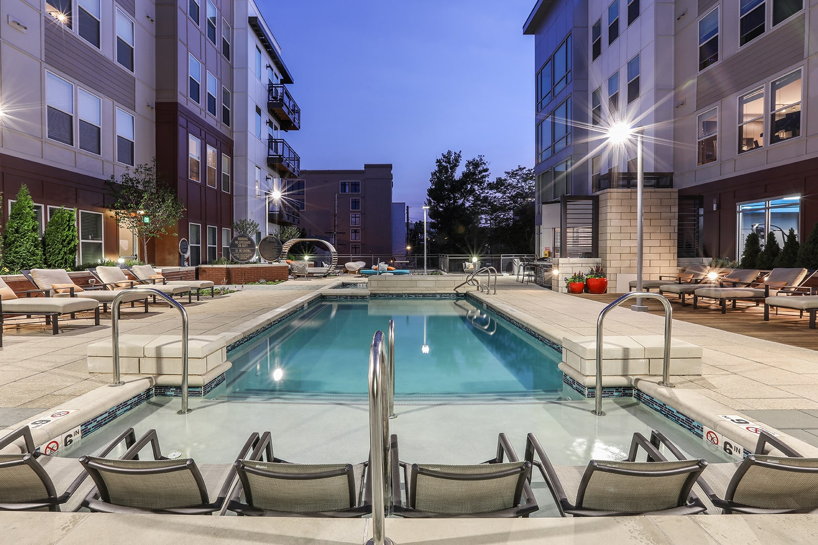 The Heated Salt-Water Pool Is Open Year-Round at Centric LoHi by Windsor, CO, 80211