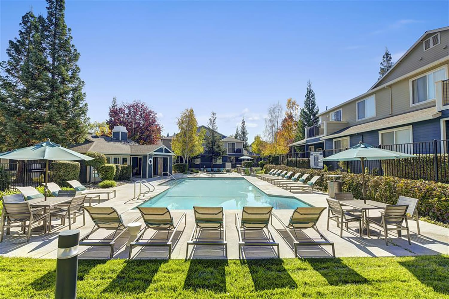 Relaxing Pool & Spa at Atwood Apartments, California, 95610