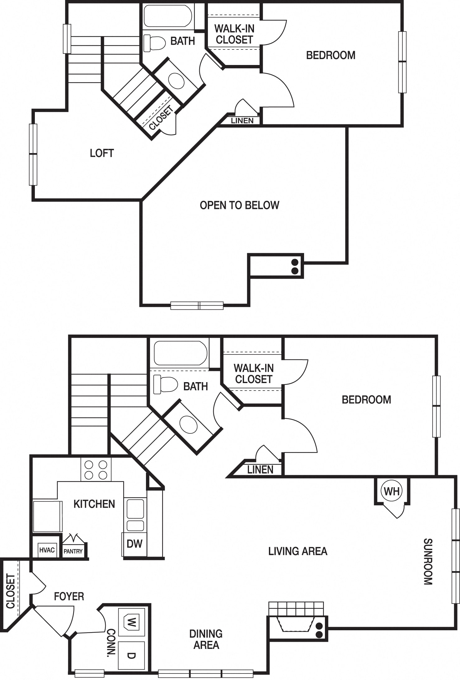 apartment unit floorplan view
