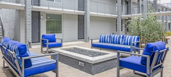 Firepit at GC Square Apartments in Phoenix AZ 2018