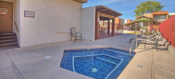 Spa at Claremont Villas Apartments in Tucson AZ November 2020