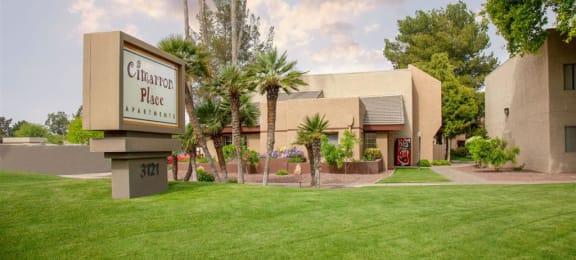 Elegant Entry Signage at Cimarron Place Apartments, Arizona, 85712