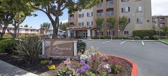 Hayward Village Senior Apartments front entry  - Hayward, CA