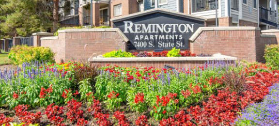 Decorated Property Signage at Remington Apartments, Midvale, UT