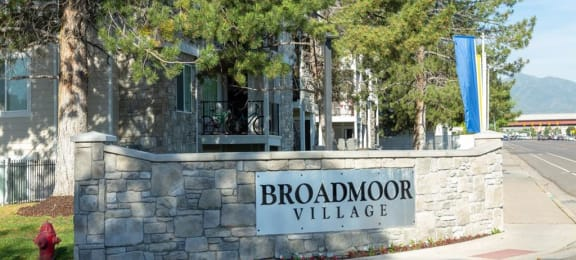 Welcoming Property Signage at Broadmoor Village Apartments, West Jordan