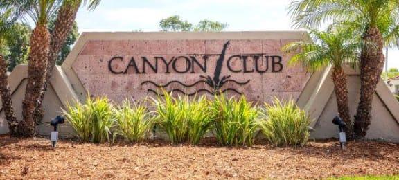 Welcoming Property Signage at Canyon Club Apartments, California, 92058