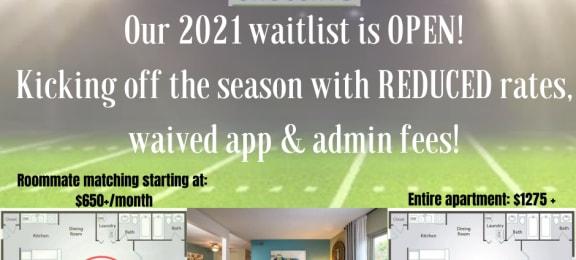 2021 Waitlist is Now OPEN!