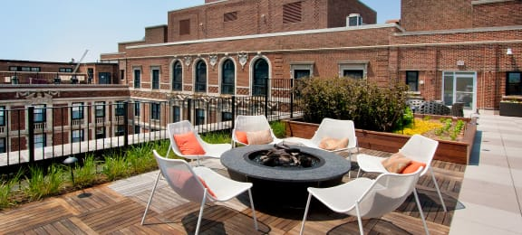 Roof Deck at the Belmont by Reside