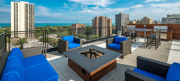 Rooftop Lounge at Park Lincoln by Reside, Chicago, 60614-2746