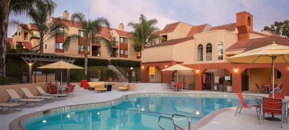 Pool at Canyon Villa Apartments, Chula Vista, 91910