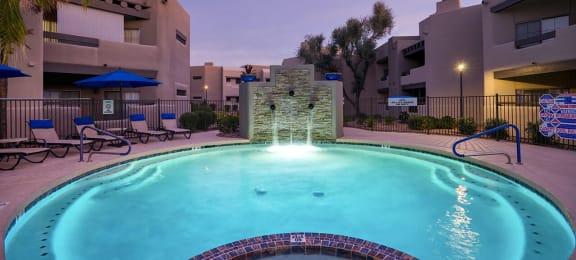 Twilight Pool at Scottsdale Horizon, Scottsdale, AZ