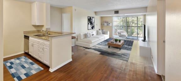 Model Kitchen & Living Room