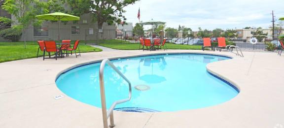 Pool & Pool Patio at Comanche Wells in Albuquerque, NM