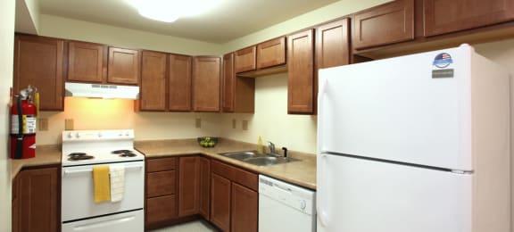 Spacious kitchen at Beacon Pointe