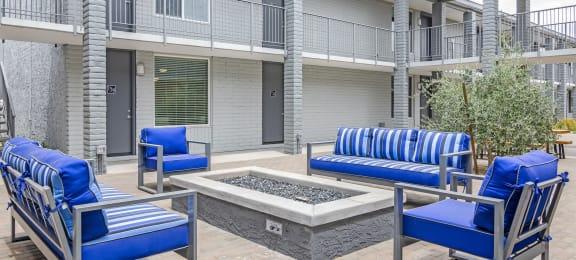 Firepit at GC Square Apartments in Phoenix AZ 2018