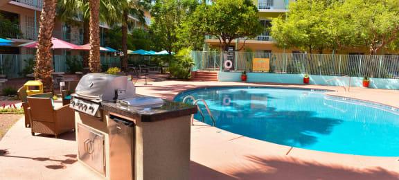 Pool & Pool Patio at Sahara Apartments in Tucson, AZ