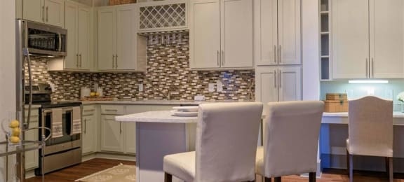 Kitchen space at 1160 Hammond Apartments in Sandy Springs, GA