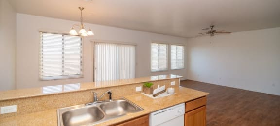 kitchen and dining area at Coronado Commons and Villas in Sierra Vista AZ