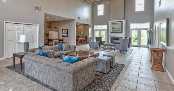 Spacious Clubhouse at Brooklyn Place Apartments, Evansville
