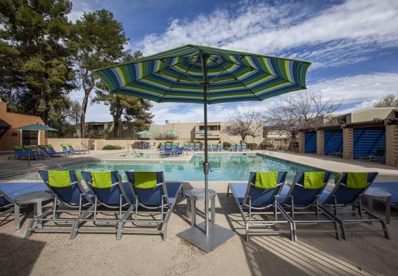 Pool at Brokwood Apartments in Tucson AZ May 2020