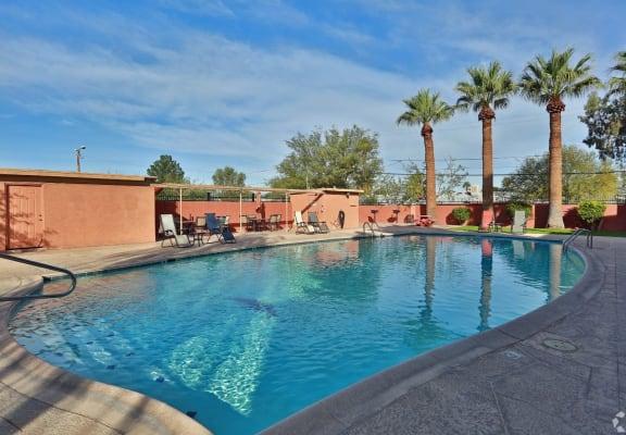 pool and pool patio at San Simeon Apartments in Tucson AZ