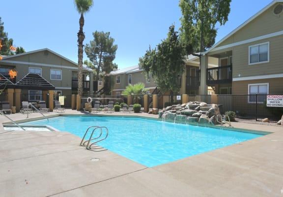 pool & pool patio at Presidio North Apartments in Phoenix, AZ