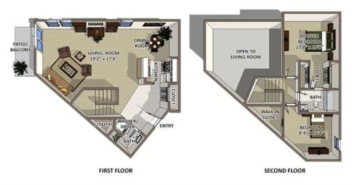 Bermuda floor plan at The Villages of Banyan Grove Apartments in Boynton Beach, opens a dialog