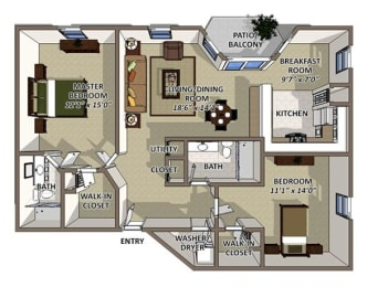 Andros floor plan at The Villages of Banyan Grove Apartments for rent in Boynton Beach FL, opens a dialog
