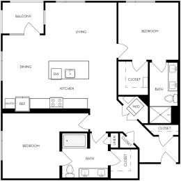 2B -3 Floor Plan, opens a dialog