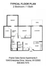 Floor Plan 2 Bedroom / 1 Bath C, opens a dialog