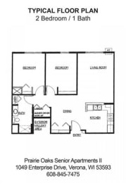 Floor Plan 2 Bedroom / 1 Bath A, opens a dialog