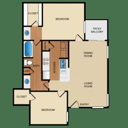 B2 floor plan, opens a dialog