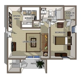 The Georgetown floor plan at Summerville Station Apartments in Summerville, opens a dialog