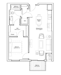 1 Bedroom Apartment Floor Plan Vintage on Selby Apartments, opens a dialog