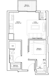 Studio Apartment Floor Plan Vintage on Selby Apartments, opens a dialog