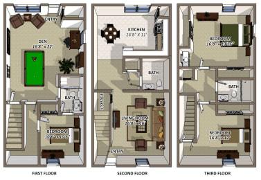 Floor Plan The Hamilton, opens a dialog