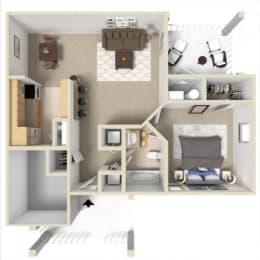 Rosemont III Floor Plan at Ashton Creek Apartments in Chester VA, opens a dialog